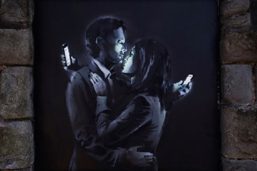 Banksy's Cellular Lovers